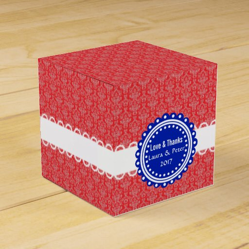 Wedding Gift Box Pattern : ... Damask Pattern Wedding Favor Gift Box Party Favor Boxes Zazzle