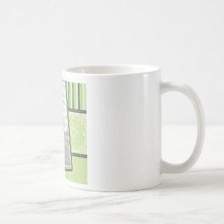 Custom Damask & Stripes Baby Photo Mug :: lime