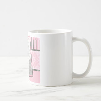 Custom Damask & Stripes Baby Photo Mug :: pink
