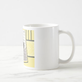 Custom Damask & Stripes Baby Photo Mug :: yellow