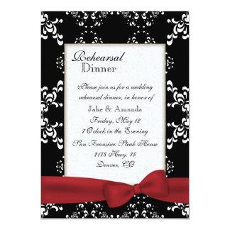 Custom Damask Wedding Rehearsal Dinner Invitation