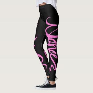 Custom Dance Script - Pink Leggings