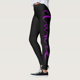 Custom Dance Script - Purple Leggings
