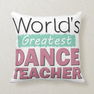 Custom Dance Teacher Recognition Award Decorative Throw Pillow