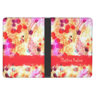 Custom Dancing Colors Red Dots Kindle 4 Cover