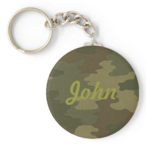Custom Dark Camouflage Key Chain