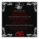 "Custom Dark Goth Wedding Invitations 5.25"" Square Invitation Card"