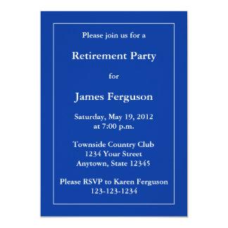 "Custom Dark Navy Blue Invitation or Announcement 5"" X 7"" Invitation Card"
