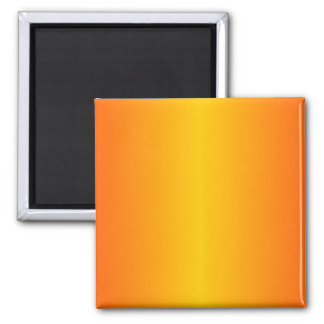 Custom Dark Orange Yellow 2 Inch Square Magnet