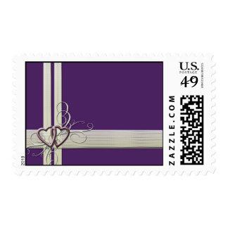 Custom dark purple heart postage
