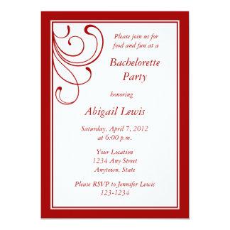 "Custom Dark Red Invitations or Announcements 5"" X 7"" Invitation Card"