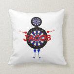 Custom Dart Player Cartoon Pillow