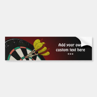 Custom Darts Design Bumper Sticker