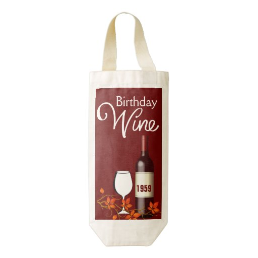 Custom Date Birthday Celebration HEART Wine Bag