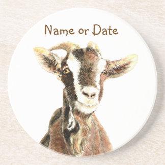 Custom Date or Name Goat, Farm Animal Coaster