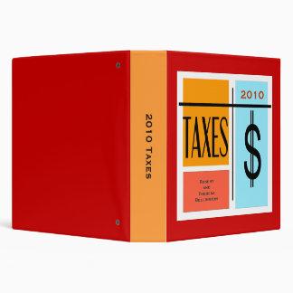 Custom Date Tax Record File 3 Ring Binder