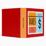 Custom Date Tax Record File Binders