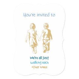 Custom Dated Anniversary Invite Hand in Hand