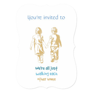 Custom Dated Anniversary Invite Hand in Hand