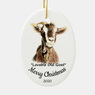 Goat Christmas Ornaments Zazzle 100 Satisfaction Guaranteed