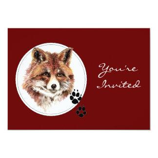 Custom Dated, Fox Animal Birthday Party Card