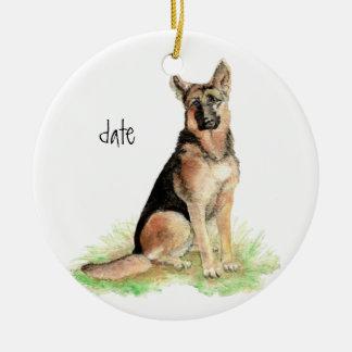 Custom Dated German Shepherd, Dog Pet, Animal Christmas Tree Ornament