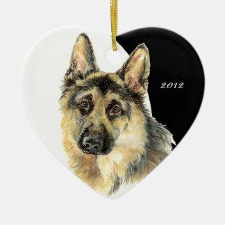 Custom Dated German Shepherd Pet Dog Christmas Ornaments