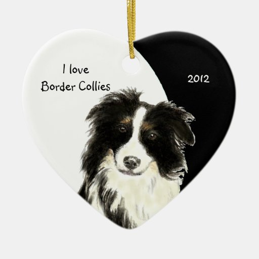 Collie Christmas Ornaments