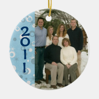 Custom Dated Photo Christmas Ornament