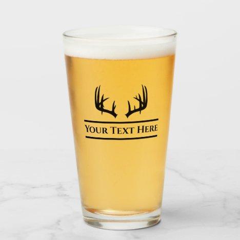 Custom Deer Hunting Beer Glass Tumblr