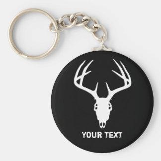 Custom Deer Hunting Skull Basic Round Button Keychain