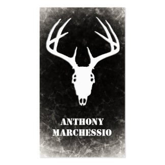 Custom Deer Hunting Skull Double-Sided Standard Business Cards (Pack Of 100)