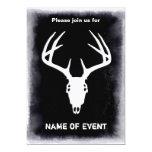 Custom Deer Hunting Skull 5x7 Paper Invitation Card