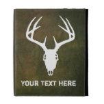 Custom Deer Hunting Skull iPad Folio Cases