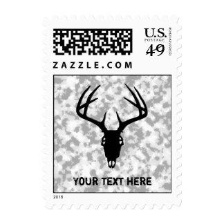 Custom Deer Hunting Skull Stamp