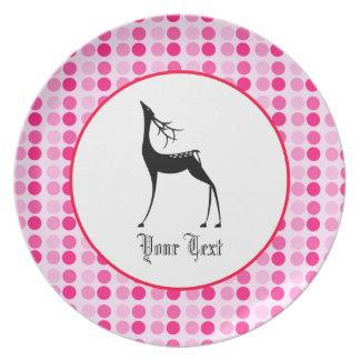 Custom Deer; Reindeer Dinner Plate