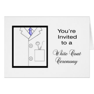 White Coat Ceremony Cards | Zazzle