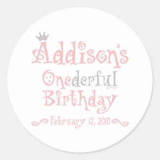 Custom Design - Addison Classic Round Sticker