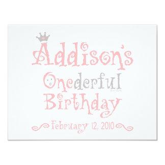 "Custom Design - Addison 4.25"" X 5.5"" Invitation Card"