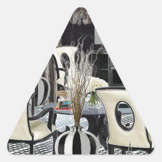 Custom Design Home Interior black lobby Triangle Sticker