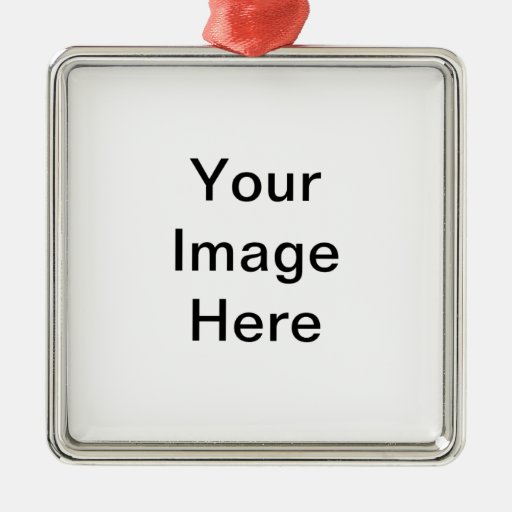 Custom Design Products Square Metal Christmas Ornament