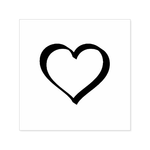 Custom Design Your Logo l Personalize Heart wText Self_inking Stamp