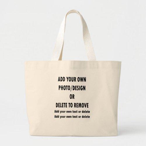 Custom Design Your Own Everyday Jumbo Large Tote Bag
