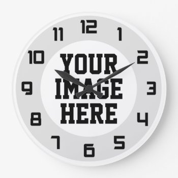 """Custom """"design Your Own"""" Unique Wall Clock by laxshop at Zazzle"""