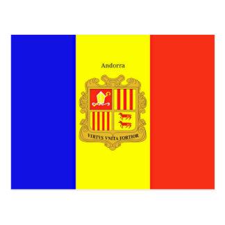 Custom-Designed Flag of Andorra postcard