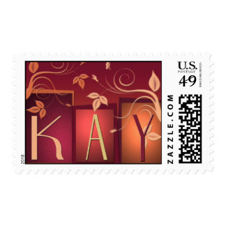 Custom designed personalized postage