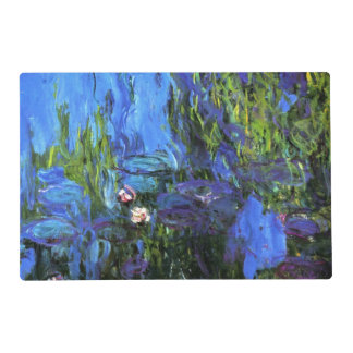 Custom-designed: Water-Lilies, blue, by Monet Placemat
