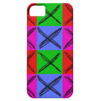 "Custom designed ""X-Case"" Pattern #1 iPhone SE/5/5s Case"