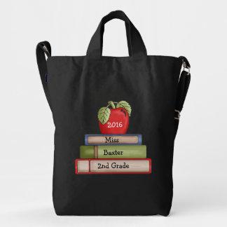 Custom Designer Apple Teachers Tote Bag