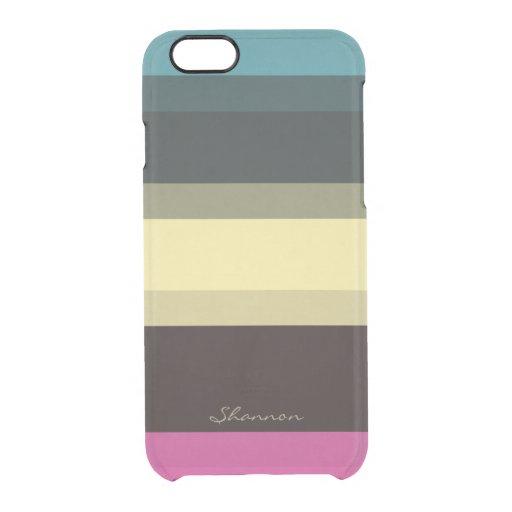 custom designer colors striped clear iphone 6 case zazzle. Black Bedroom Furniture Sets. Home Design Ideas